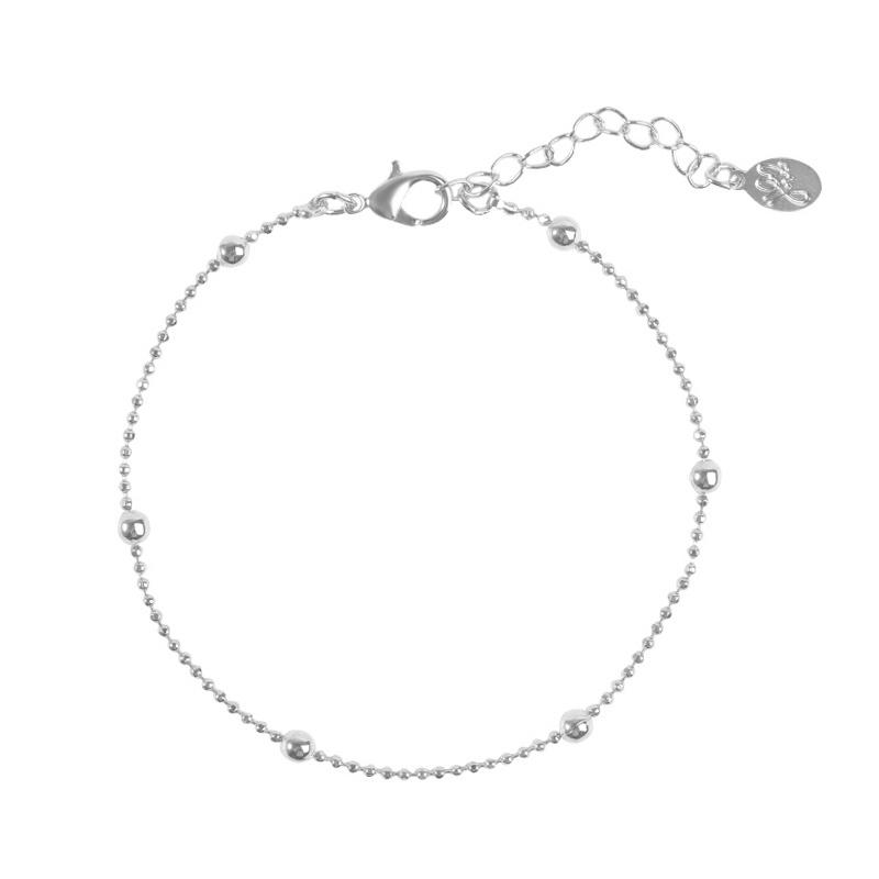 Armband dots zilver