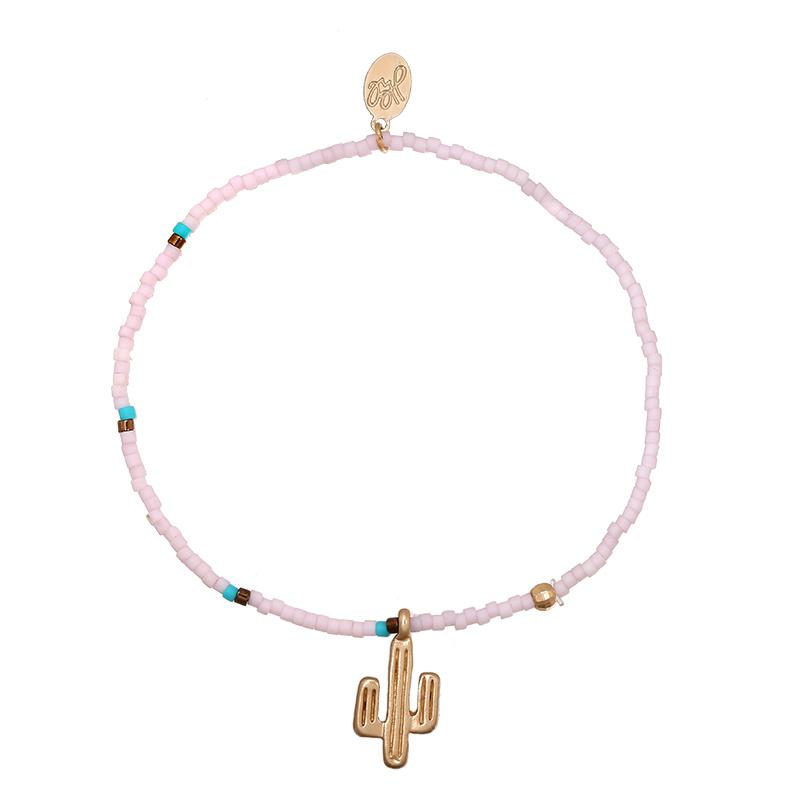 Armband cactus lila