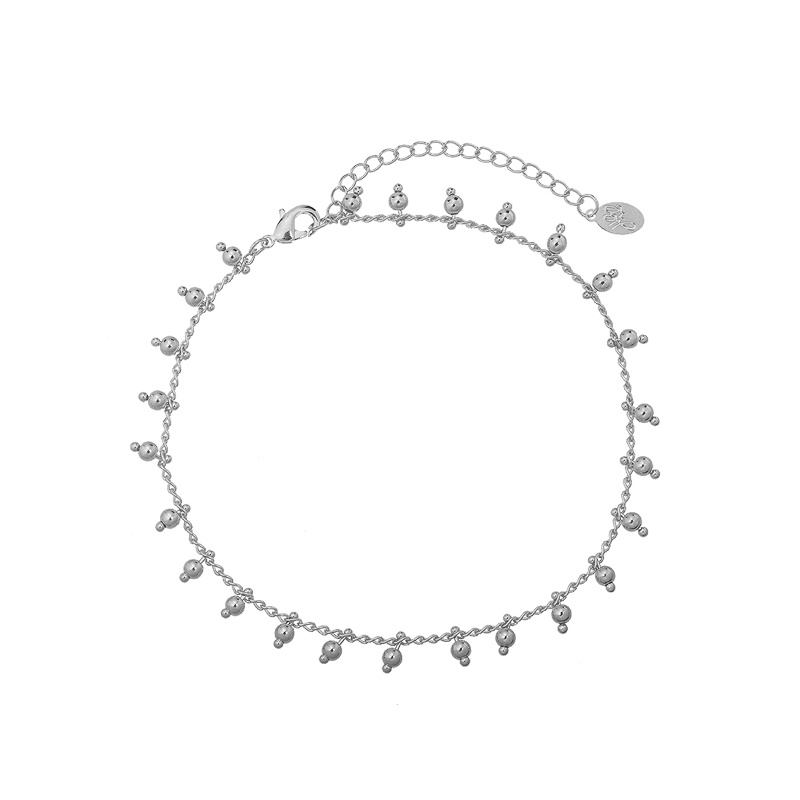 Armband beads zilver