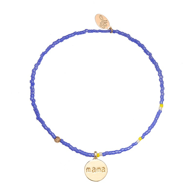 Armband mama blauw
