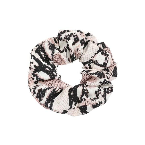 Scrunchie haarelastiek snake bruin