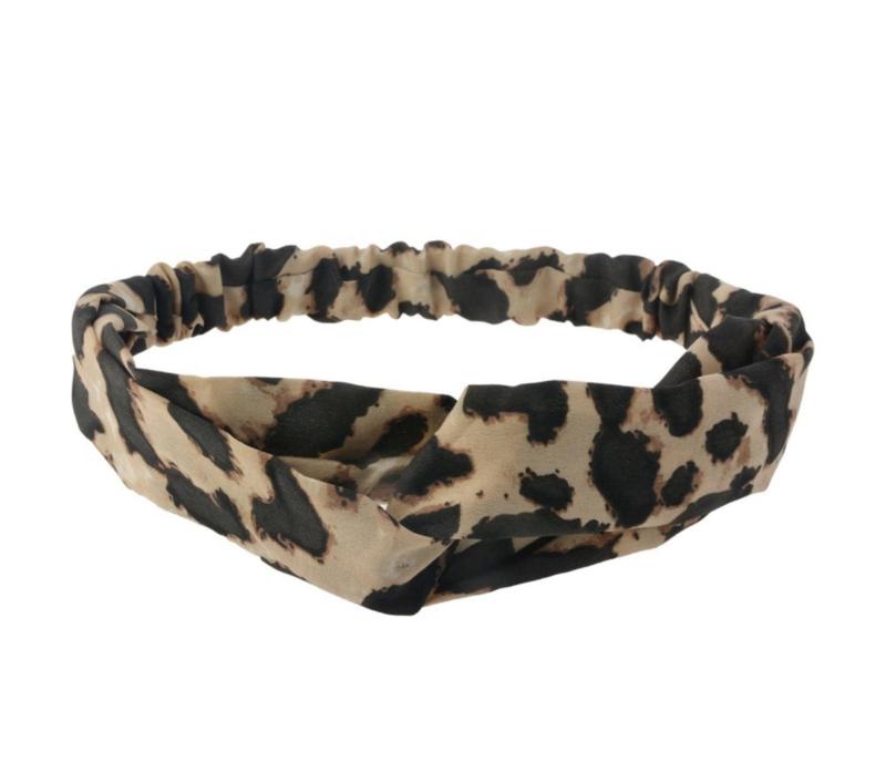Haarband luipaard lichtbruin