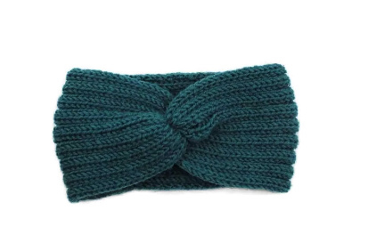 Hoofdband winter knot turquoise