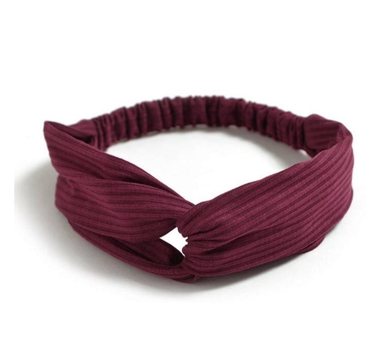 Haarband ribbel rood