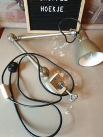 Industriële franse werkplaatslamp fabriekslamp depose