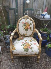 Barok stoel gobelin rozen