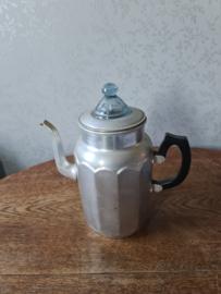 Aluminium pruttelpot koffie glazen knop