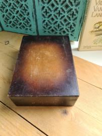 Oud houten scheerkistje nr3
