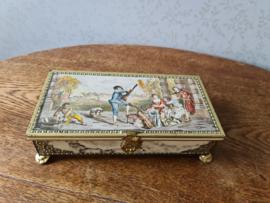 Oud victoriaans blik trommel