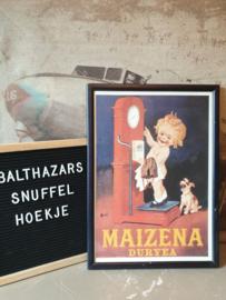Reclame poster maïzena duryea in lijst