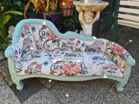 Antiek brocante sofa bankje