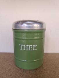 Reseda groen emaille theebus