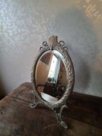 Antiek koperen art deco spiegel