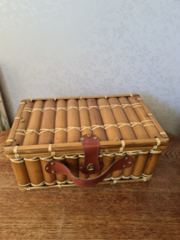 Vintage bamboe koffertje