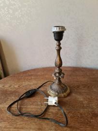 Antiek koperen lampenvoet