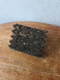 Antiek koperen batik stempel