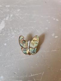 Sjaal clip parelmoer vlinder