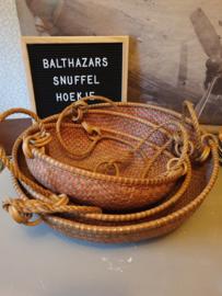 Vintage rieten mandenhanger