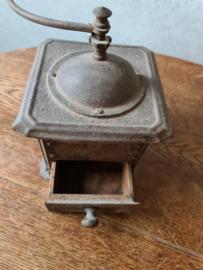 Antiek blikken bonenmaler schoot koffiemolen