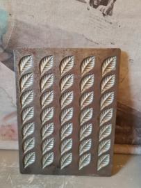 Antieke ringers chocolademal blaadjes
