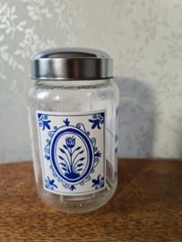 Vintage glazen pot nescafe nr3