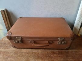 Oude vintage bruine koffer
