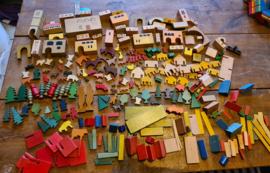 Lot oud houten speelgoed