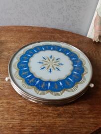 Vintage draaiplateau dienblad ornament