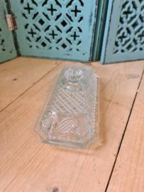Kristal glazen botervloot