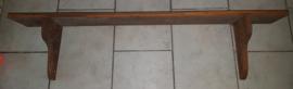 Antiek houten regaal wandplank schap