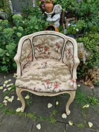 Antiek boudoir stoeltje jachttafereel