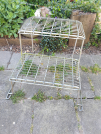 Vintage metalen opstapje
