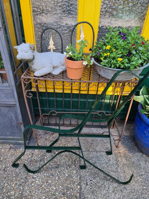 Steunen tuinbankje