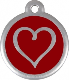 QR Tribal Heart - Rood