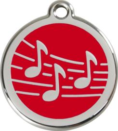Muziek (1MU) Rood - Small 20mm