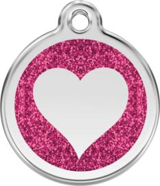 Hartje Glitter (XHT) Hot Pink - Small 20mm