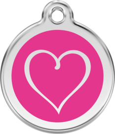 Tribal Heart (1TH) Hot Pink - Small