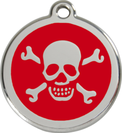 Scull & Bones (1XB) Rood - Small 20mm
