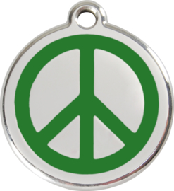 Peace (1PC) Groen - Small 20mm