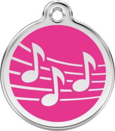 Muziek (1MU) Hot Pink - Small 20mm