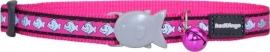 Halsband Kat - Reflective Hot Pink