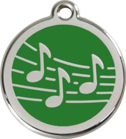 Muziek (1MU) Groen - Small 20mm
