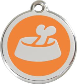 Bone in Bowl (1BB) Oranje - Small 20mm