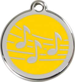 Muziek (1MU) Geel - Small 20mm