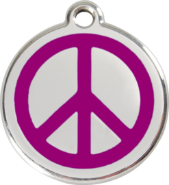 Peace (1PC) Paars - Small 20mm