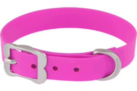 PVC Halsband - Hot Pink (Biothane)