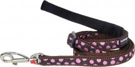 Hondenlijn -Pink Spots on Brown
