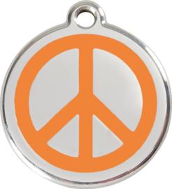Peace (1PC) Oranje - Small 20mm