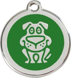 Hondje (1DG) Groen - Small 20mm