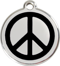 Peace (1PC) Zwart - Small 20mm